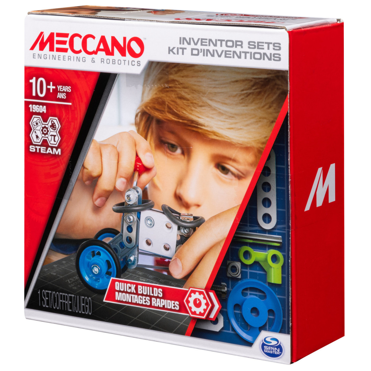 6047095 SET 1 KIT D'INVENTIONS MONTAGES RAPIDES MECCANO