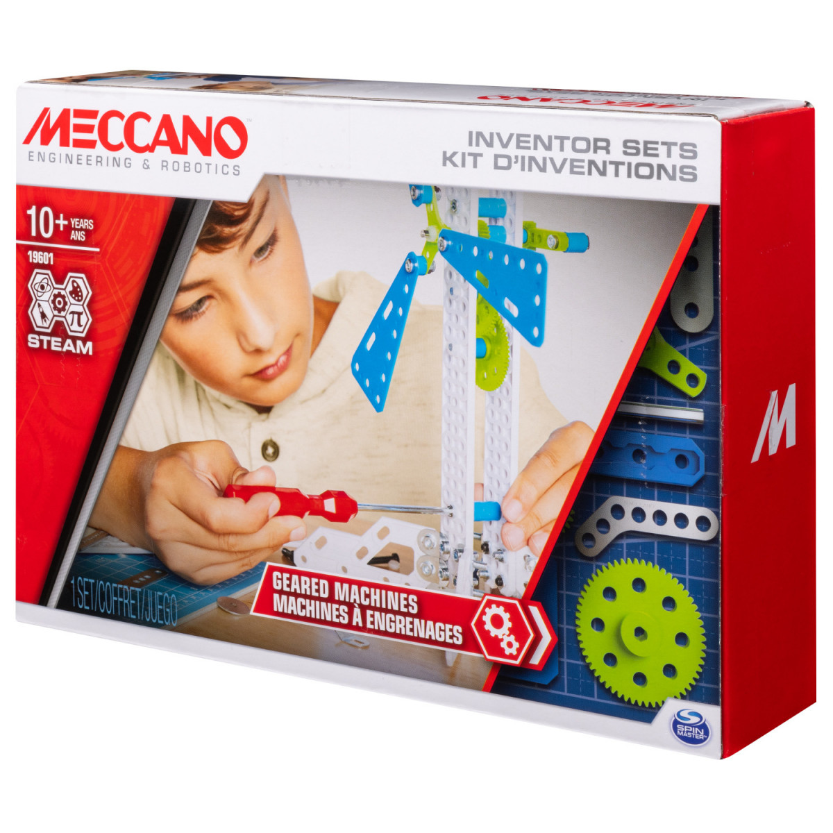 6047097 SET 3 KIT D'INVENTIONS ENGRENAGES MECCANO