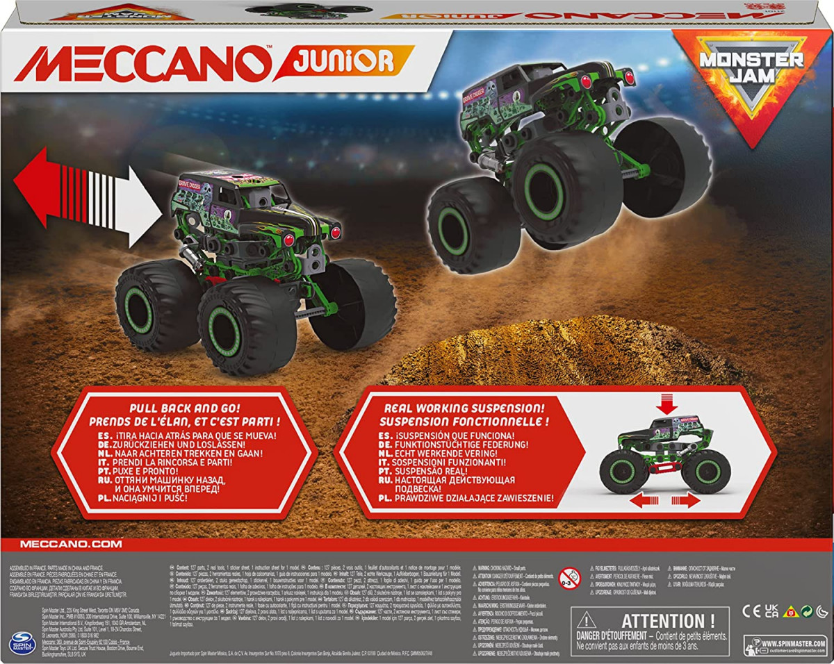 6060171 MONSTER TRUCK www.meccanodiret.fr Boutique Officielle Jeu de construction MECCANO