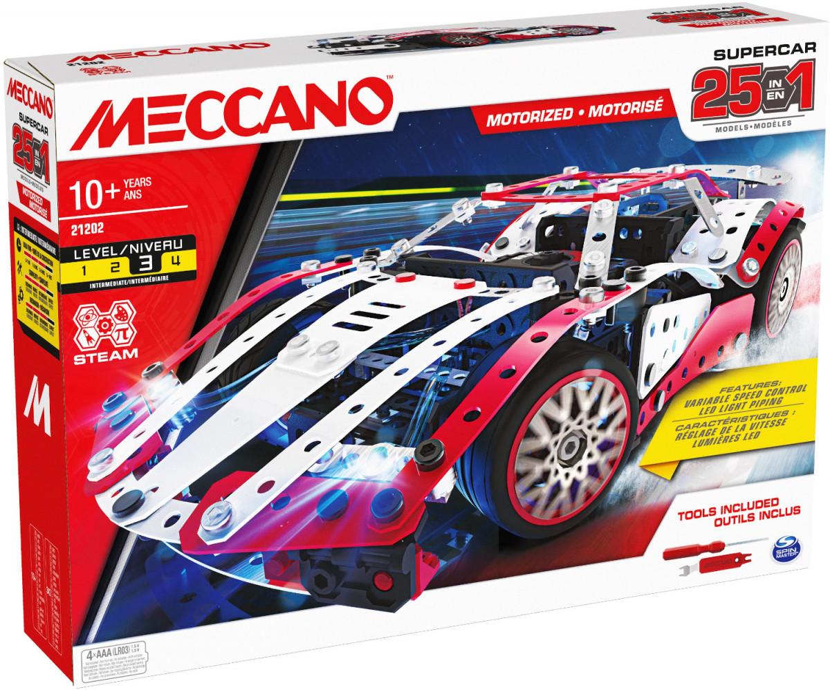 6062054 SUPERCAR 25 MODELES MOTORISES www.meccanodiret.fr Boutique Officielle Jeu de construction MECCANO