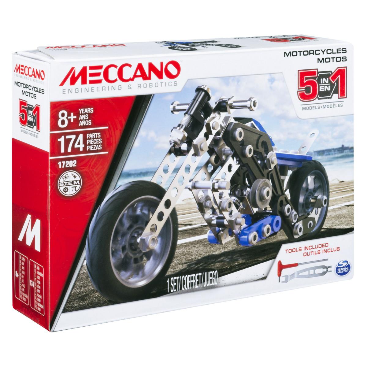 6036044 MOTO 5 MODELES MECCANO BOITE