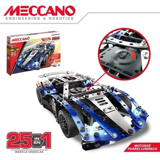 6044495 SUPERCAR 25 MODELES MOTORISES MECCANO DETAIL