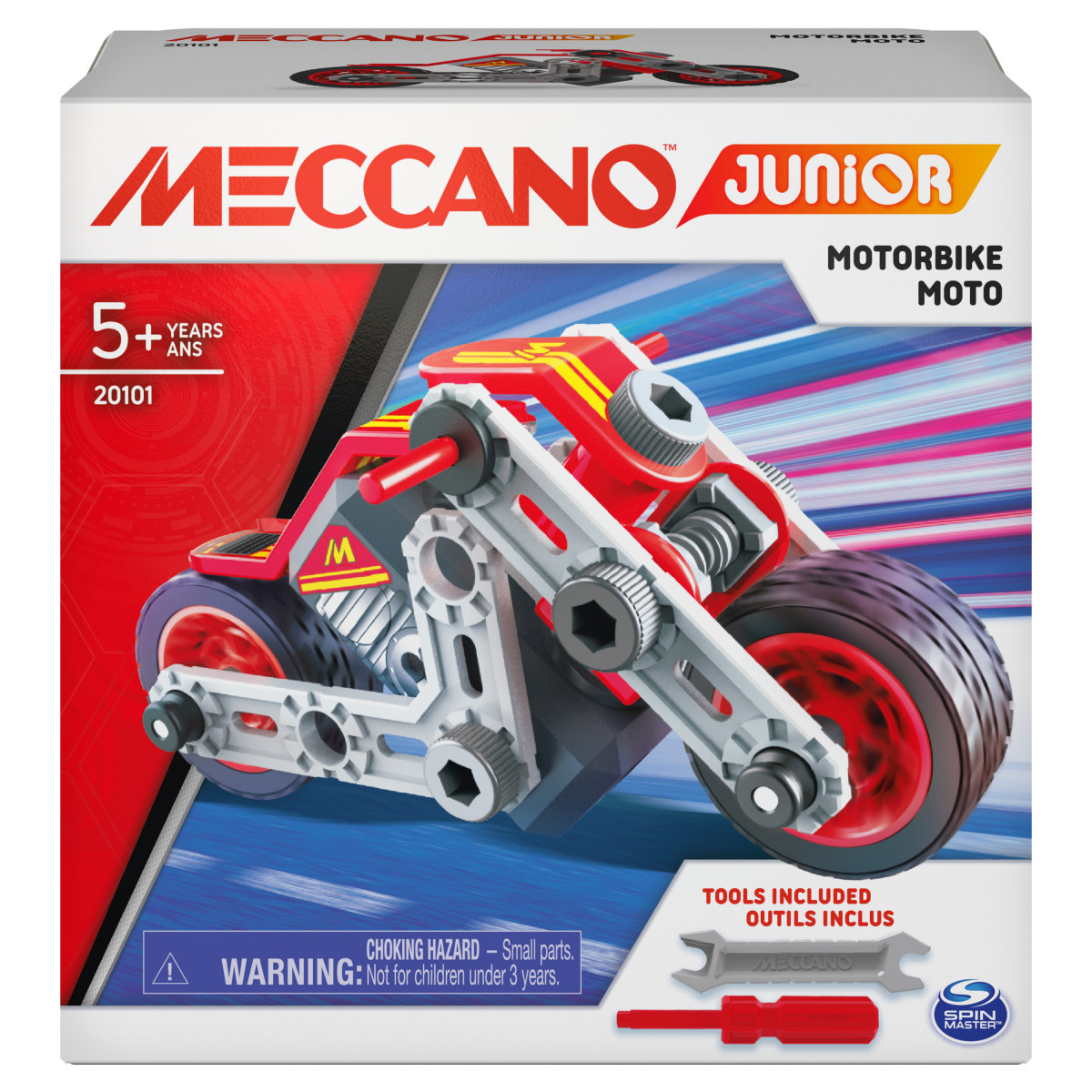 6055090 MES PREMIERES CONSTRUCTIONS MECCANO JUNIOR MOTO COFFRET