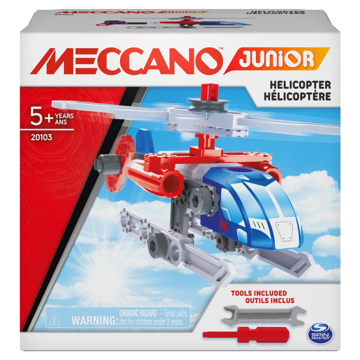 6055090 MES PREMIERES CONSTRUCTIONS MECCANO JUNIOR HELICOPERE BOITE