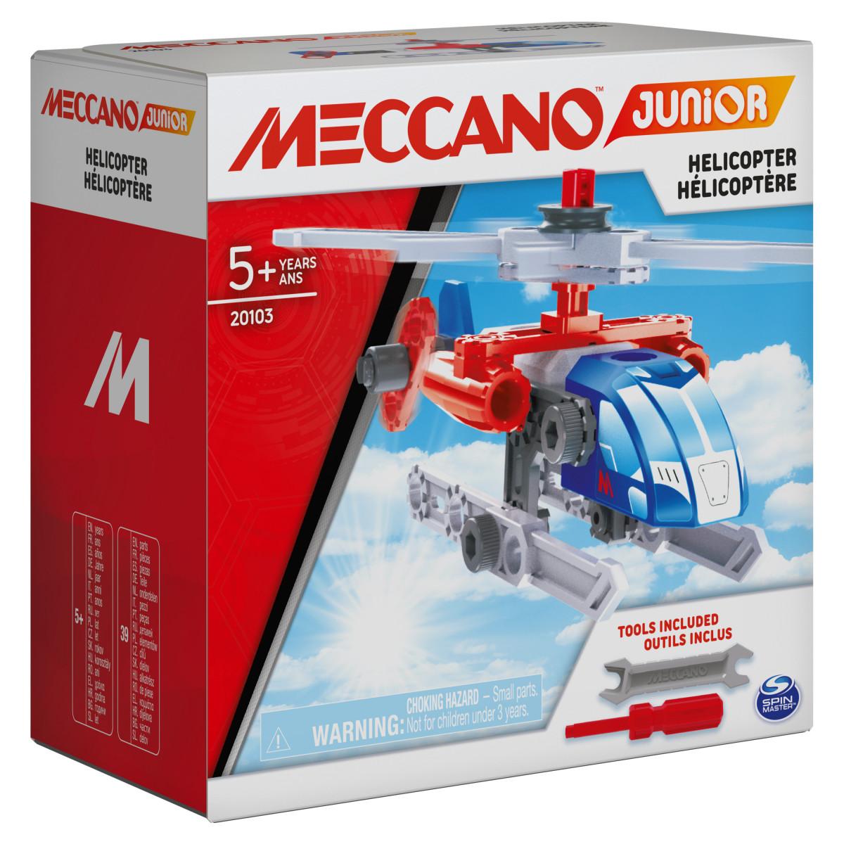 6055090 MES PREMIERES CONSTRUCTIONS MECCANO JUNIOR HELICOPERE COFFRET