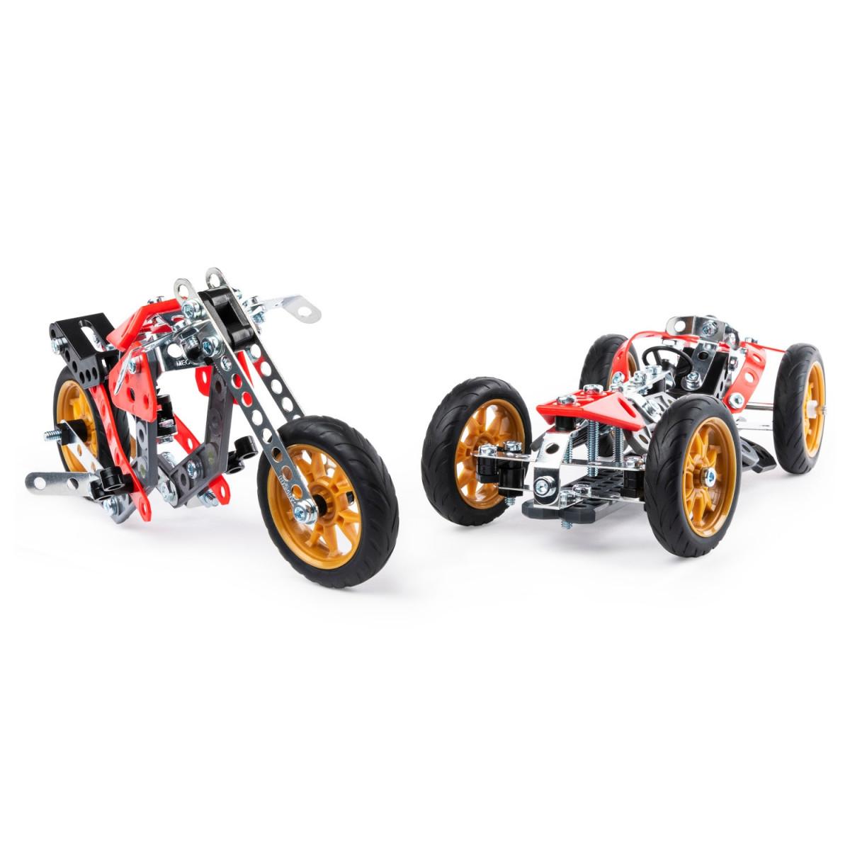 6053371 VOITURE ET MOTO 5 MODELES MECCANO