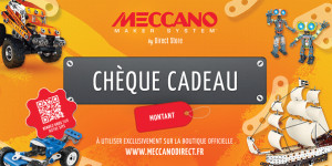 Meccano Chèque cadeau 50,75 ou 100€ Meccano