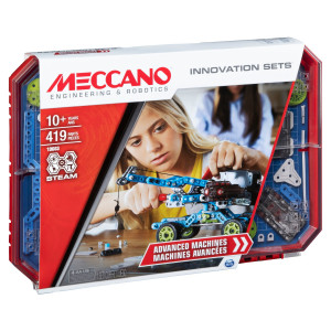 Meccano KIT D'INVENTIONS – MOTEUR & ENGRENAGES Meccano